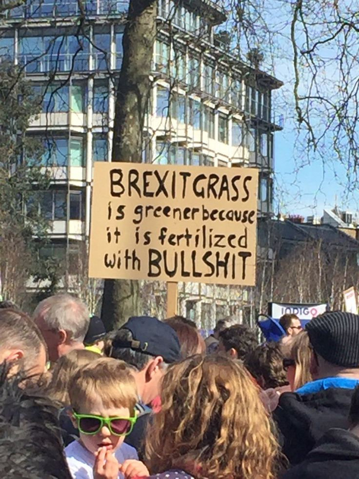 Tens of thousands marched in London today to celebrate 60 years of the European Union and protest the titanic idiocy of Brexit. Friend of Ink Tank, and ardent Remain campaigner, Simon Field was there and shared some of his favourite protest signs. Here are 15 we loved best.