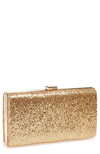 Free shipping and returns on Natasha Couture 'Sparkle' Box Clutch at Nordstrom.com. A glittering finish brings undeniable glamour to a classic box clutch furnished with a dainty drop-in chain strap.