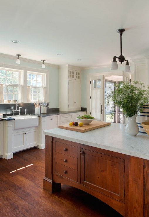 Carrera Counters, Country, kitchen, Benjamin Moore Ivory White, Patrick Ahearn Architecture