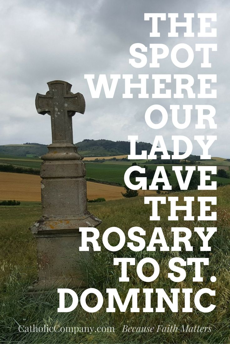 The location in France where the Blessed Virgin Mary gave the Rosary to St. Dominic