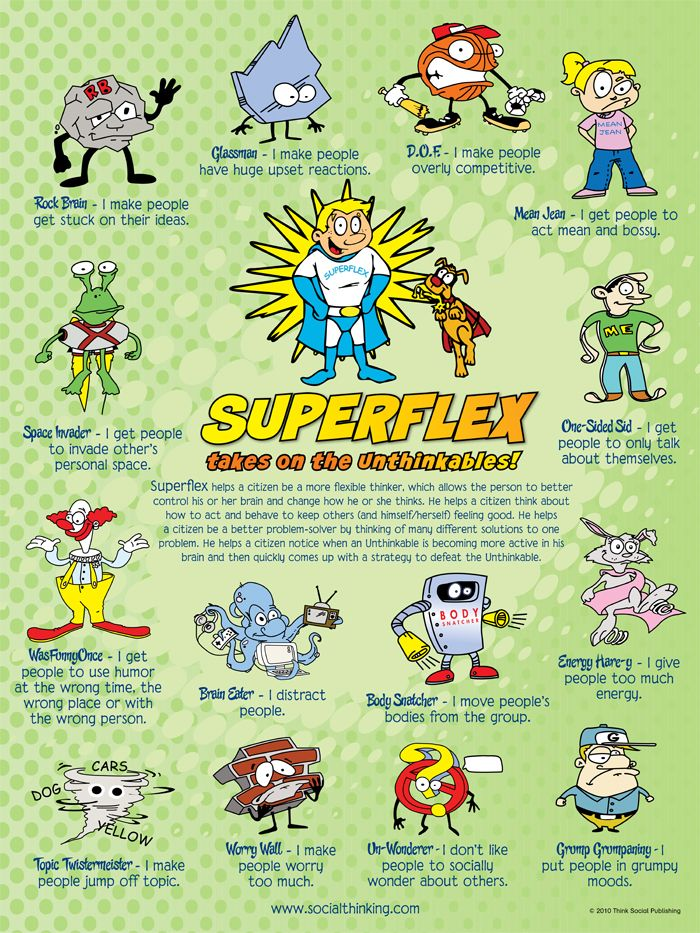 some posters and handouts to go with the #Superflex curriculum #autism