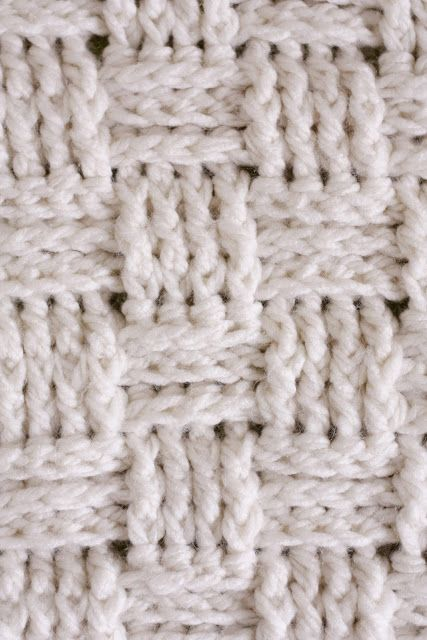 As you may have noticed, I've really been enjoying picking up my crochet hook more often. I knew that I wanted to crochet a blanket for the baby, but couldn't decide on a stitch to use…until I saw this youtube video. I am in love with the basket weave stitch pattern! So, I created a blanket pattern from the instructions from that video {with my