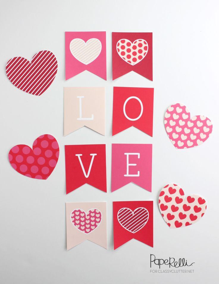 Valentines Day Love Banner Printable by @Paperelli