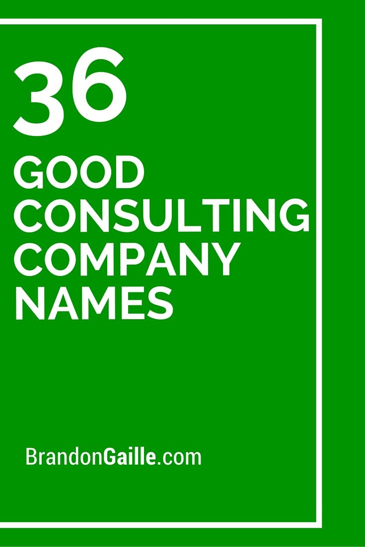 36 good consulting company names - Design Company Name Ideas