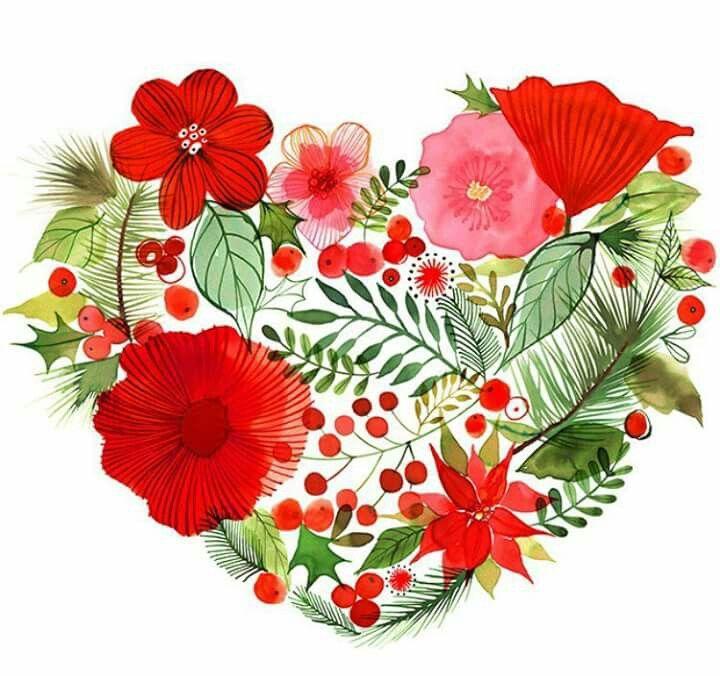Corazón de flores. Mujer. Me quiero.