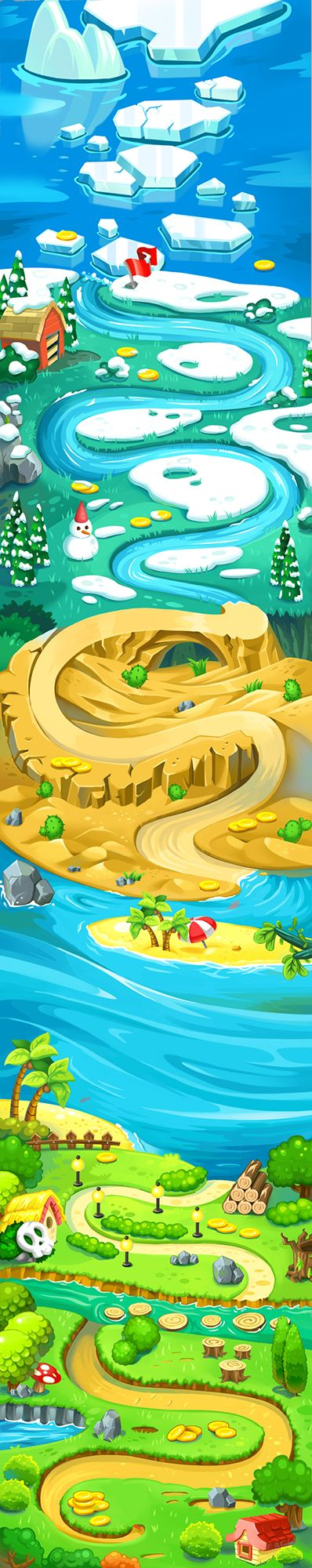 Map without using in game by maggie wang, via Behance