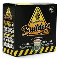 """Originally """"Builders Tea"""" was an English term referring to any cheap black tea, usually served at construction sites. But one tea company is looking to put the pride back into strong British tea, introducing this strong and sturdy blend. Made of hand-selected leaves from Tanzania, Malawi, Kenya, and Uganda, this tea was taste-tested by real master builders until the perfect thirst-quenching blend was developed."""