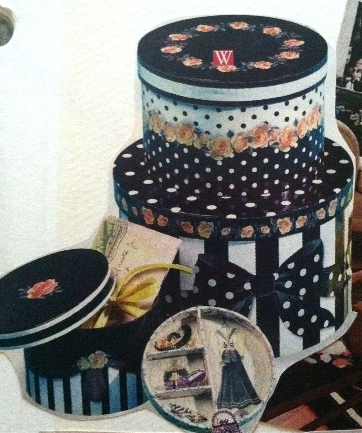 Hat boxes aren't just for hats. There are so many pretty new ones to be found, but I really love vintage ones.