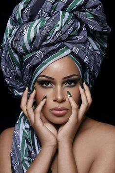 head wrap ~Latest African Fashion, African Prints, African fashion styles, African clothing, Nigerian style, Ghanaian fashion, African women dresses, African Bags, African shoes, Nigerian fashion, Ankara, Kitenge, Aso okè, Kenté, brocade. ~DK