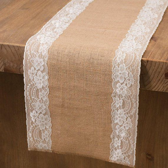 2 75m X 30cm Side Lace Natural Hessian Burlap Seamed Edges Table Runner Rustic Vintage Party Wedding Decor Bohemian Overlay Farmhouse Decor Rustic Table Runners Burlap Table Runners Farmhouse Table Runners