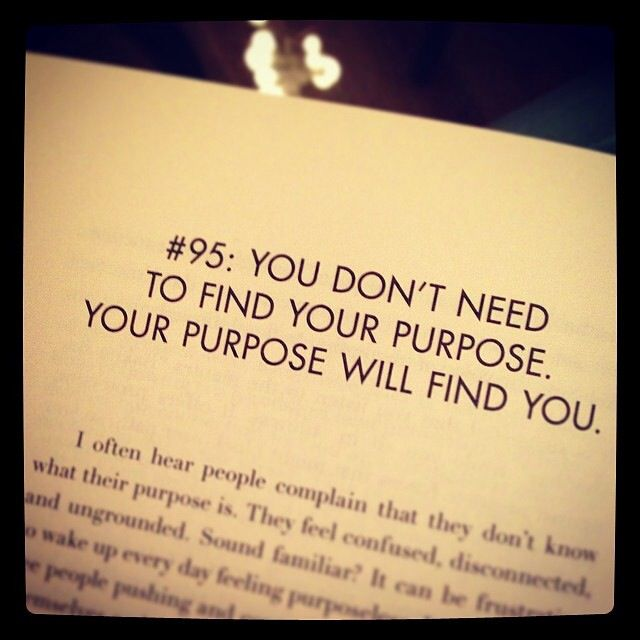 Find your purpose, Live your Passion!!!