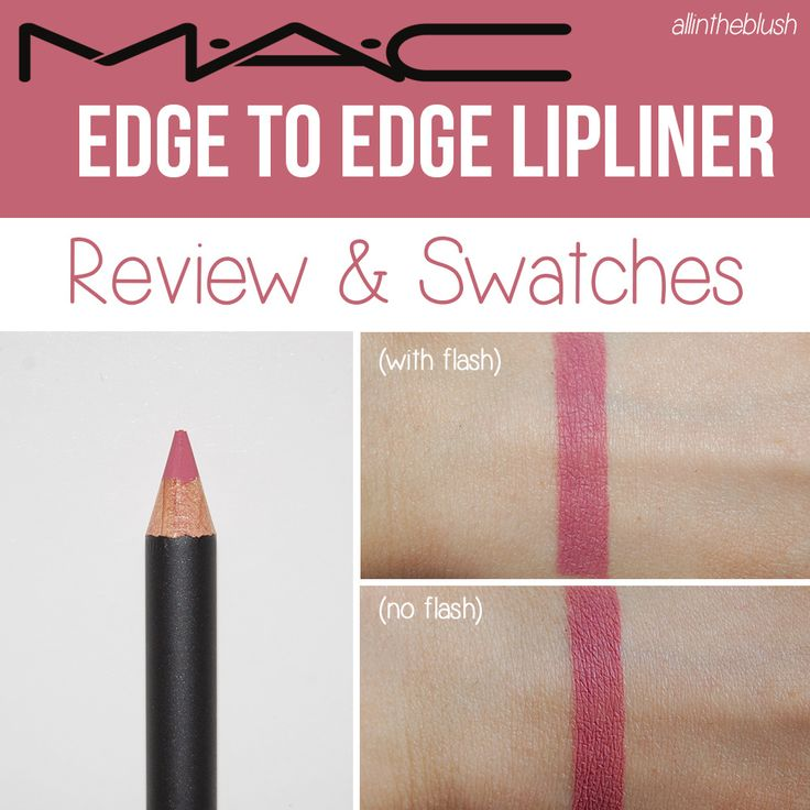 MAC Edge to Edge Lipliner/ Goes Well With Clinique Shine Lipstick Pink-a-boo