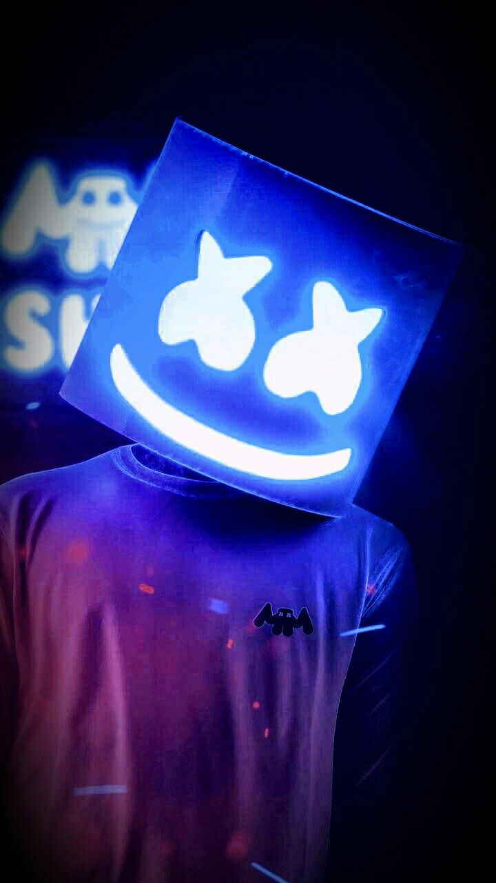 Marshmello Neon Wallpaper Joker Iphone Wallpaper Galaxy Wallpaper