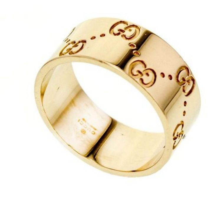 New Gucci Icon band ring in k yellow gold USA size Guaranteed authenticity on Gucci
