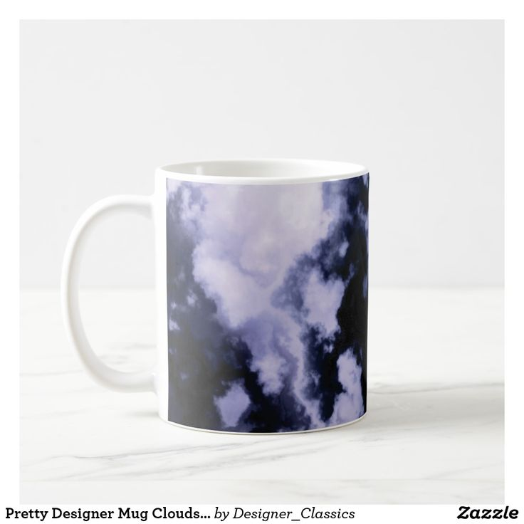 Pretty Designer Mug Clouds Blue