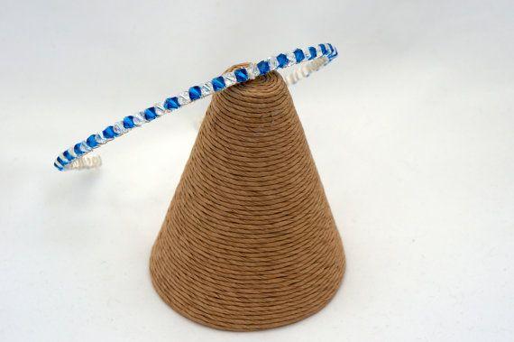 Capri Blue Tiara Band Swarovski Crystal by Makewithlovecrafts, £24.99