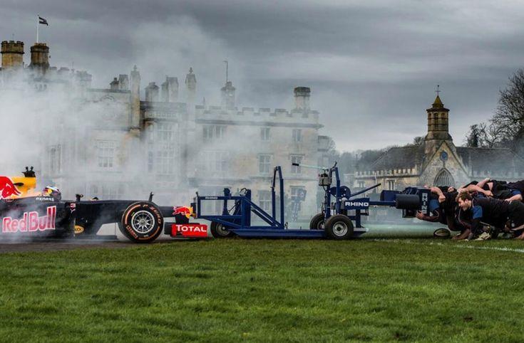 Daniel Ricciardo and Red Bull Racing take on Bath Rugby in F1 Scrum, a world-first showdown.