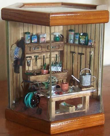 Miniatures - potting shed room box