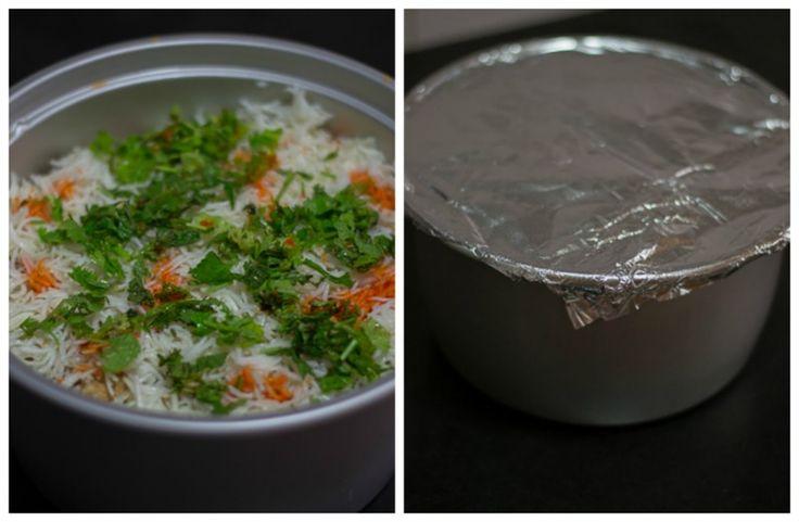 Chennai Madras Style Spicy Chicken Biryani. Made using the Dum method. Tastes good with mutton too.