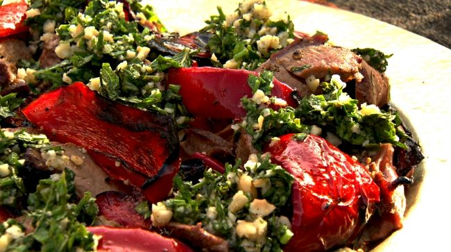Ottolenghi - Recipes - Barbecued leg of lamb with almonds and orange blossom