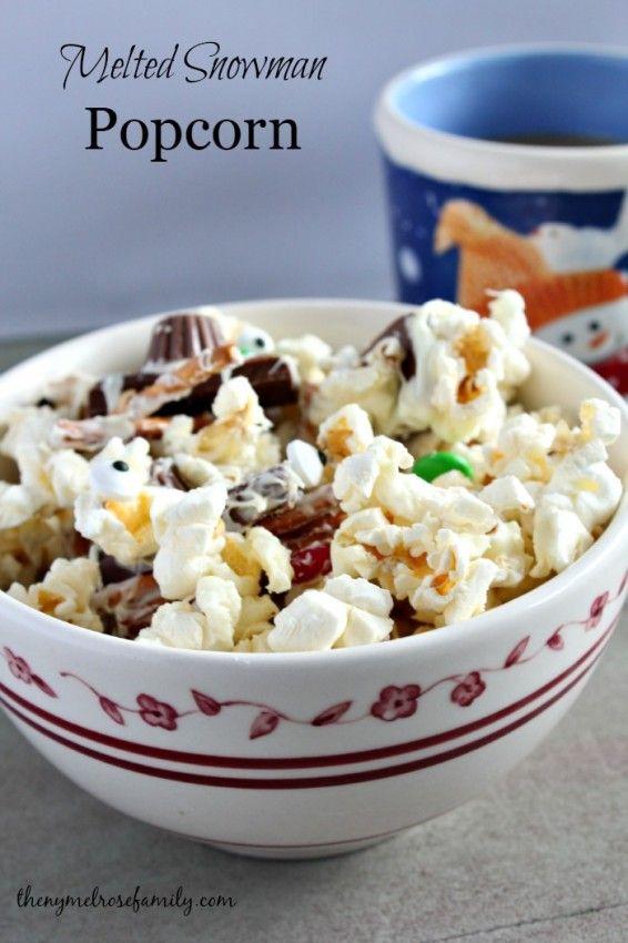 Melted Snowman Popcorn Recipe