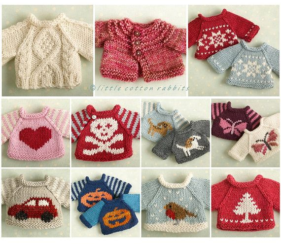 This knitting pattern contains a range of sweater designs from easy to more challenging knits. There is a Fair-Isle design sweater, a cabled
