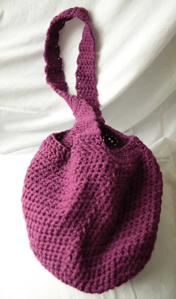 Crocheted Market Bag by KatEyeKrafts on Etsy, $35.00
