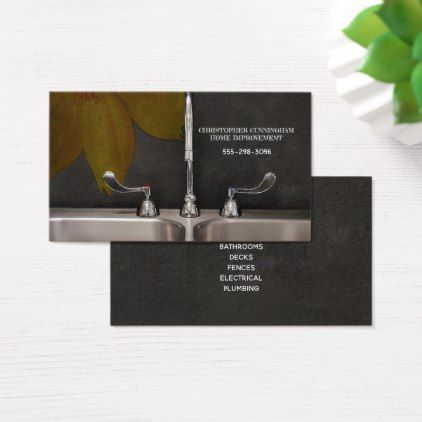Home Improvement Remodeling Company Business Card - rustic gifts ideas customize personalize