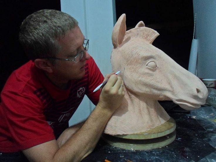 """Modelado de máscara de cebra para el programa de Telemedellín: """"Por la cebra"""""""