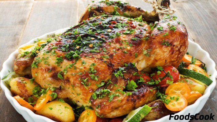 Запеченная курица в духовке, пошаговые рецепты с фото