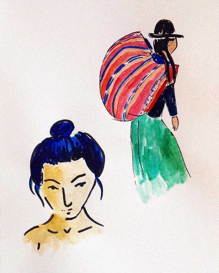 #asian #peru #watercolor