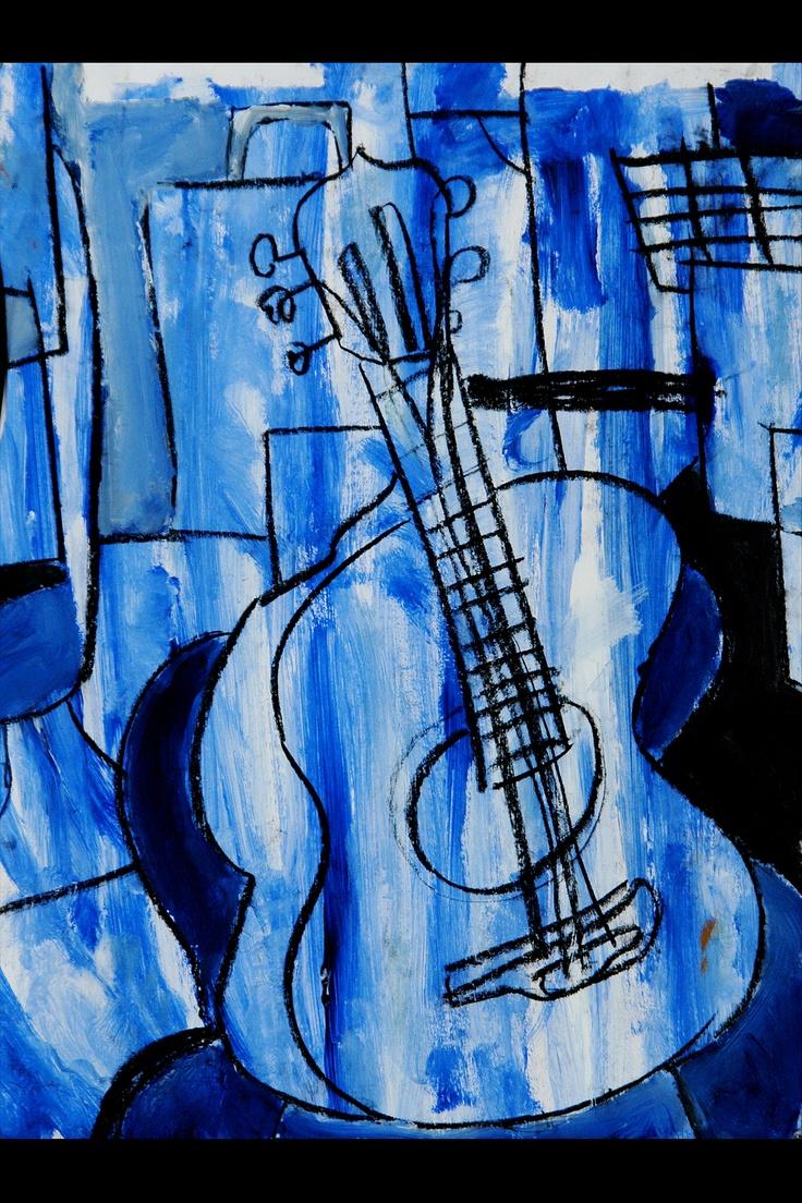 24 best Blues Art images on Pinterest   Guitar art, Blue guitar and ...