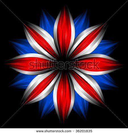 Union Jack ♔ Flower Art
