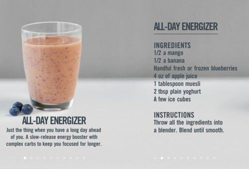 you can add lots of other goodies to your smoothie to give you morning energy...note to self ... DO THIS!