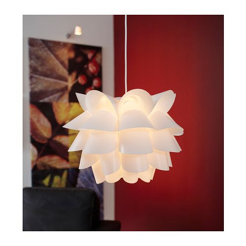 "For the dining room (though maybe not bright enough?) ""KNAPPA Pendant lamp IKEA Gives a soft mood light."""