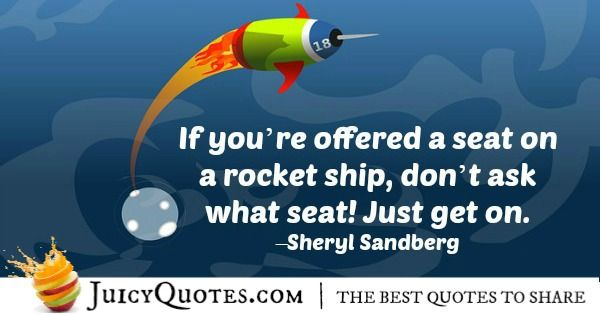 Quote About Inspiration - Sheryl Sandberg