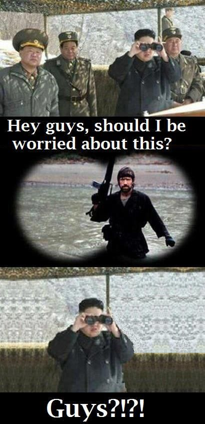 Kim Jong Un vs Chuck Norris - Things just got real!