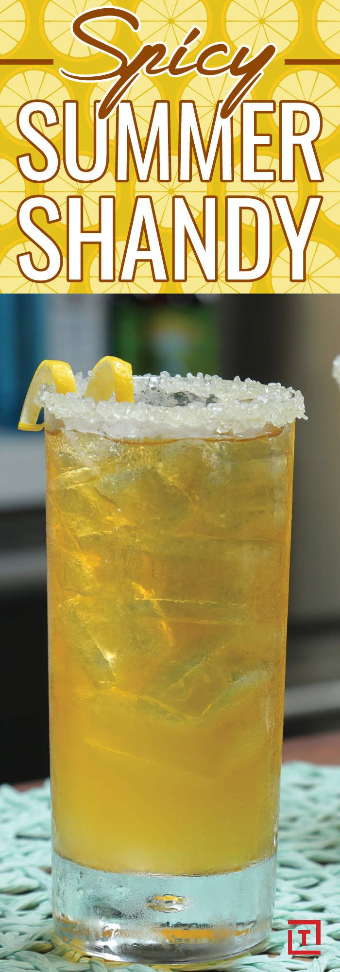 Make This Spicy Summer Shandy Before Summer's End 1 1/2 oz gin 1 oz fresh lemon juice pale ale honey and salt rim 1/2 oz jalapeño honey syrup: 1 cup water 1 cup honey 1 jalapeno pepper, thinly sliced