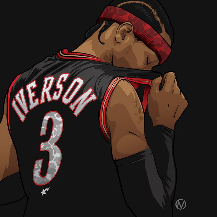 Pound-for-pound the greatest player of all-time. I felt that this piece really depicts what Allen Iverson's career was like. A great little wallpaper for the die hard A.I. fans out there or just something to rep from his Hall of Fame Induction.