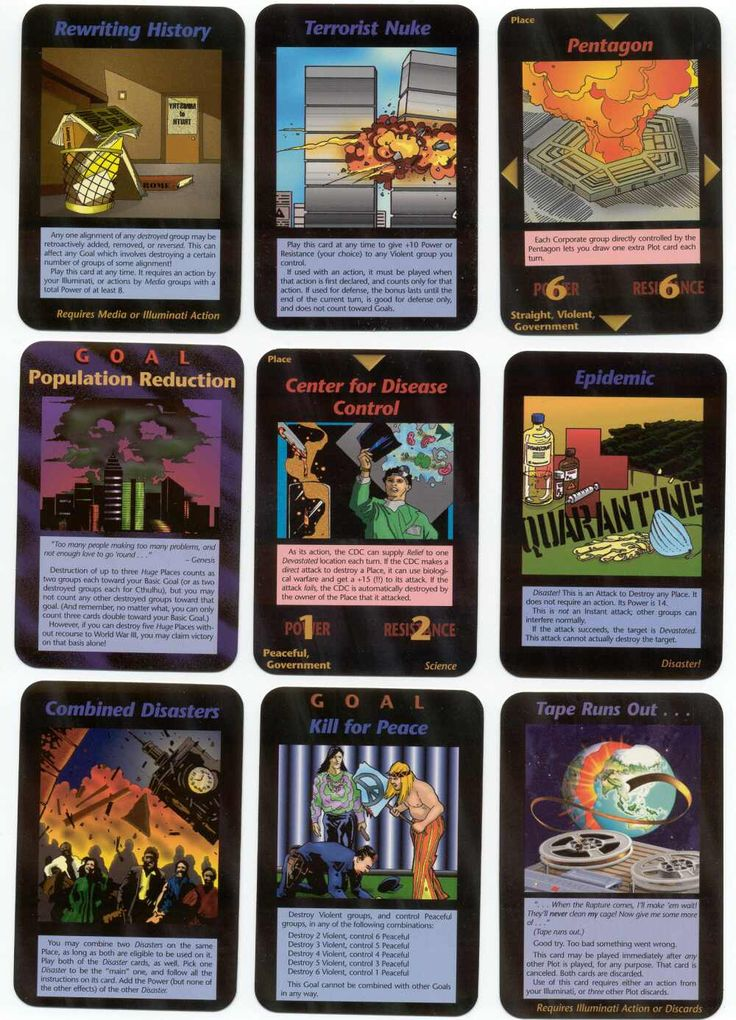 """Illuminati"" is a collectible card game that came out in 1994. Although it's been out of production for more than a decade, the game has become notorious as many of the events and circumstances depicted on the cards have actually come to fruition such as the 9/11 false flag attacks on the WTC/Pentagon, the Boston bombing, the global Eugenics Program and much more. There's zero doubt that whoever created this game had extensively detailed inside information about the elite's forthcoming…"