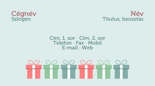 Legújabb névjegykártya minta, ajándékkártya / Latest business card tempate, gift voucher template