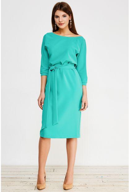 Каталог :: Одежда :: Платья :: Платье (с поясом) La Vida Rica D71001 Зеленый
