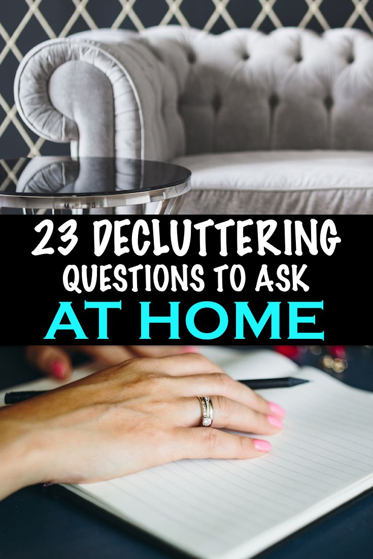 Your home is drowning in clutter. What should you do? Why, ask a few questions, of course! This list of decluttering questions will help you decide what to keep, and what to toss!