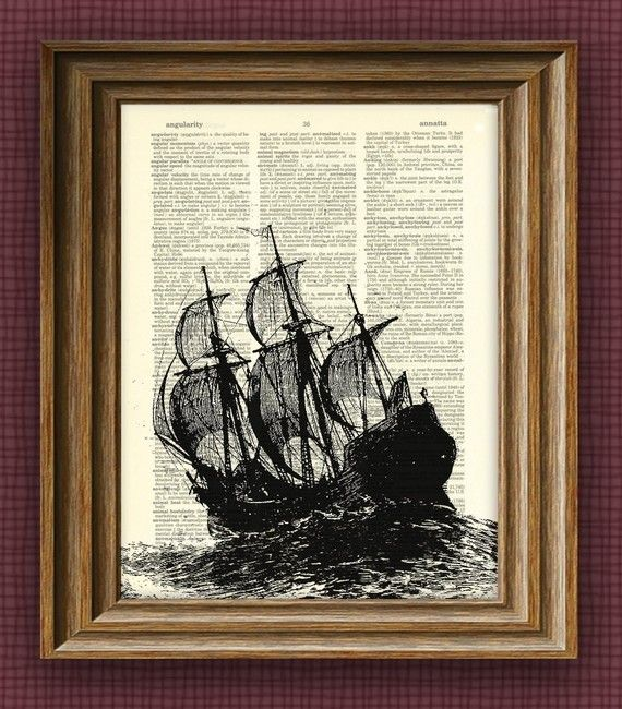 This is so cool, an illustration print on an old dictionary page... recycling at its finest! Best part? Only $6.99 at Collage O' Rama's etsy store