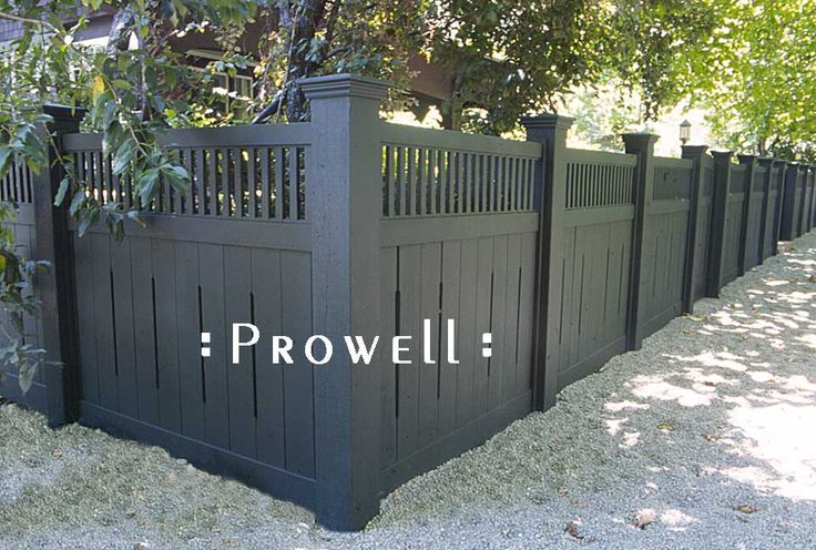 Wooden Fence Design #1 by Prowell Woodworks