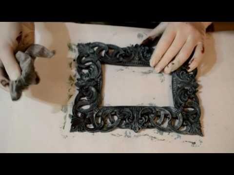 """О. Демикова """"Имитация окисленной меди на пластиковой заготовке"""" - YouTube"""