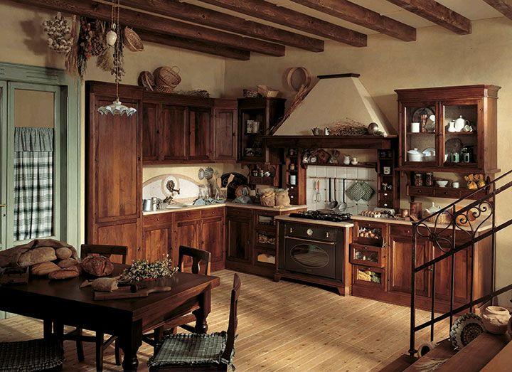 Cucine classiche in legno tradizione senza tempo cose di casa cucine kitchen country - Cucine in legno classiche ...