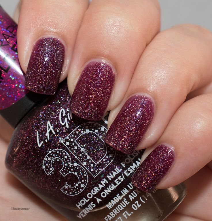 Lacky Corner: Reader's Choice - L.A Girl 3D Effect Purple Effect