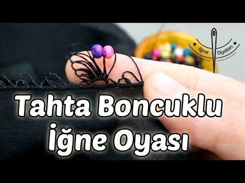Tahta boncuklu iğne oyası kelebek kanadı yapımı HD Kalite - YouTube