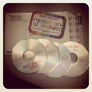 Made CD's of all the Smart Notebook lessons I've created and sent them to Tony's cousin who is a first year teacher.